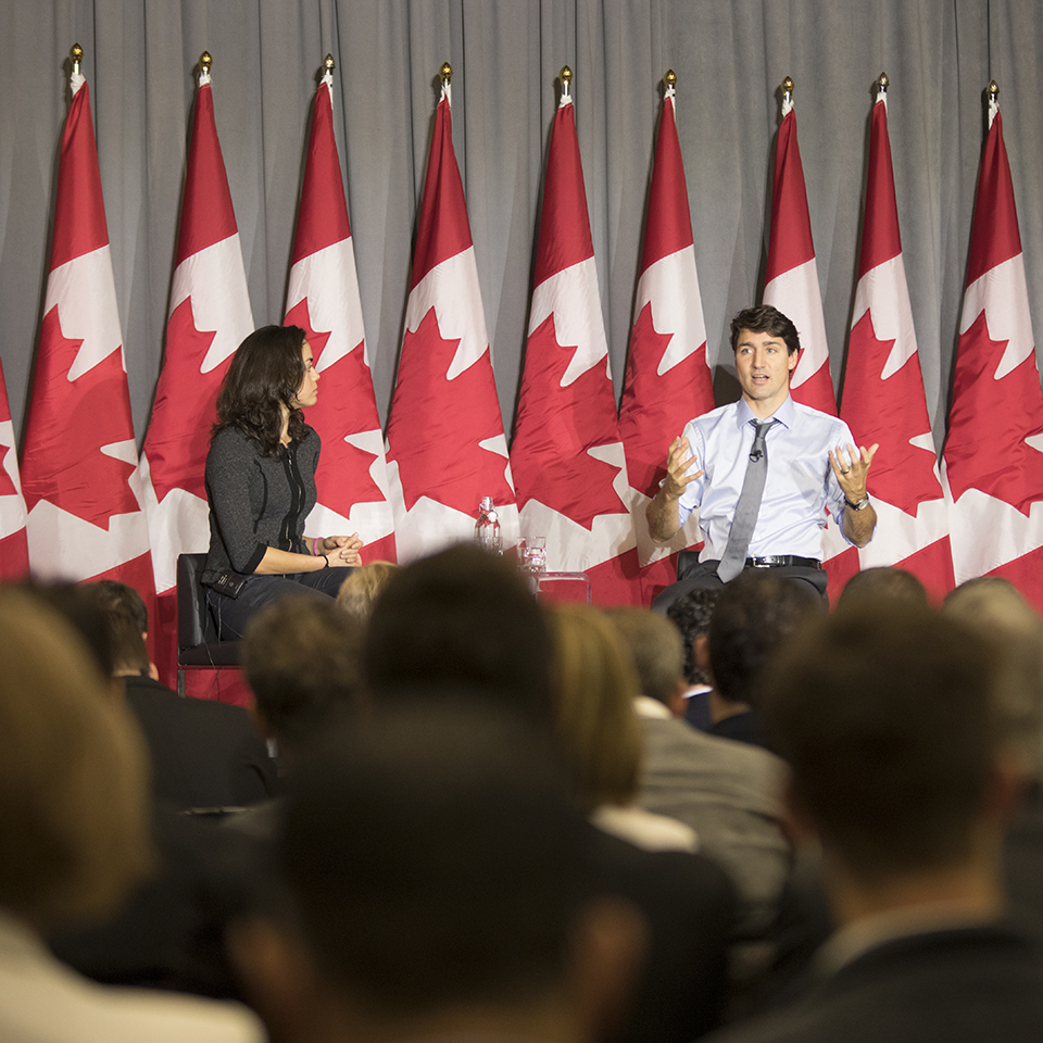 Justin Trudeau at Machine Learning Conference